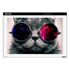 sunglasses cat decals for laptops