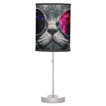 sunglasses cat desk lamp