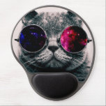 """sunglasses cat gel mouse pad<br><div class=""""desc"""">funny cats , funny animals, cute kittens , cute cats , cat animals play puppies , space youth nebula young , mammals kitty fun adorable , pedigree meow grey sunglasses , glasses cute pet kittens , pet space</div>"""