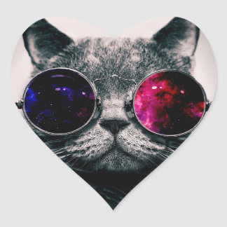 sunglasses cat heart sticker