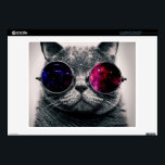 "sunglasses cat laptop skin<br><div class=""desc"">funny cats , funny animals, cute kittens , cute cats , cat animals play puppies , space youth nebula young , mammals kitty fun adorable , pedigree meow grey sunglasses , glasses cute pet kittens , pet space</div>"