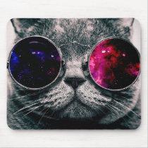 sunglasses cat mouse pad