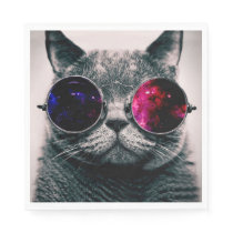 sunglasses cat napkin