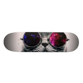 sunglasses cat skateboard deck