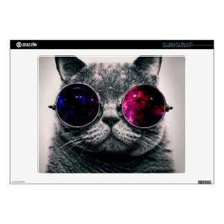 sunglasses cat skin for laptop