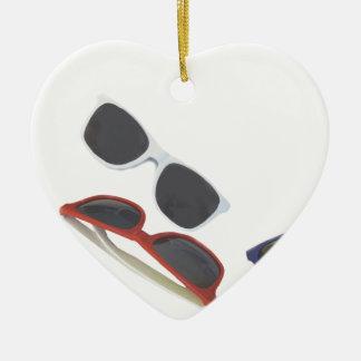 sunglasses ceramic ornament