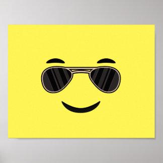 Sunglasses Emoji Poster