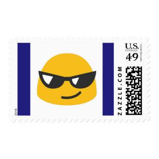 Sunglasses emoji stamp