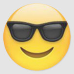 Sunglasses emoji sticker