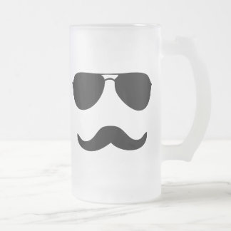 Sunglasses Frosted Glass Beer Mug
