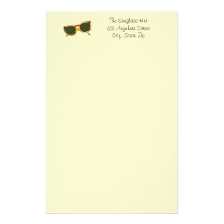 Sunglasses in yellow and red on Stationery