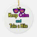 Sunglasses Keep Calm And Take A Hike Christmas Tree Ornament