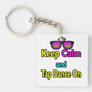 Sunglasses Keep Calm And Tap Dance On Keychain