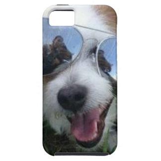 Sunglasses on dog BRIGHT FUTURE for ME iPhone SE/5/5s Case