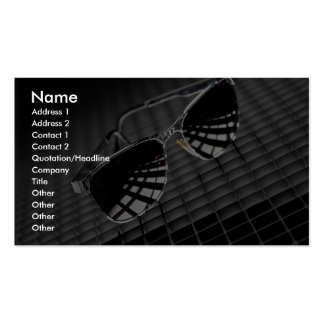 Sunglasses on grid background Double-Sided standard business cards (Pack of 100)