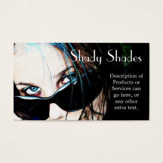 Sunglasses on Teenage Girl Business Card