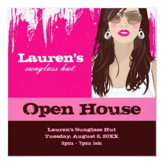 Sunglasses Open House Party Invite Fashion Pink