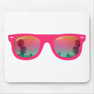 Sunglasses Palms and Beach Mouse Pad