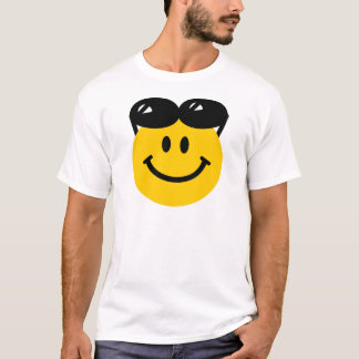 Sunglasses perched on top of head smiley face