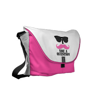 Sunglasses Pink I Moustache You A Question Messenger Bags