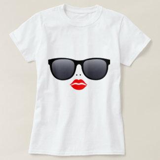 Sunglasses & Red Lips - T-Shirt