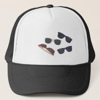 sunglasses trucker hat