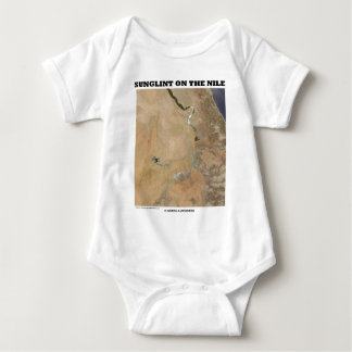 Sunglint On The Nile (Picture Earth Satellite) Baby Bodysuit