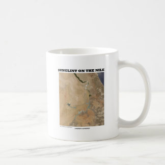 Sunglint On The Nile (Picture Earth Satellite) Coffee Mug