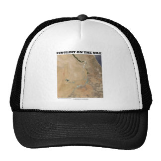 Sunglint On The Nile (Picture Earth Satellite) Mesh Hats