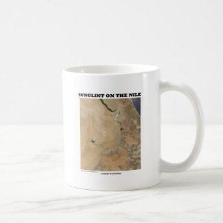 Sunglint On The Nile (Picture Earth Satellite) Basic White Mug