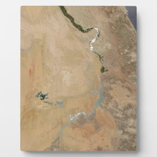 Sunglint On The Nile (Picture Earth Satellite) Photo Plaques