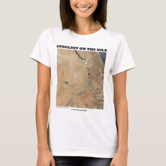 Sunglint On The Nile (Picture Earth Satellite) T-Shirt