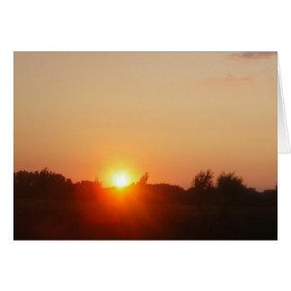 Sunglow Borderless Card