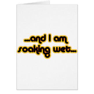 Sunglow mojado de impregnación tarjeta de felicitación