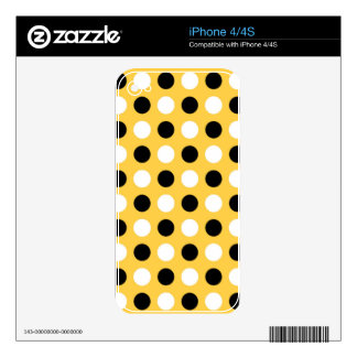 Sunglow Polka Dots iPhone 4S Decals