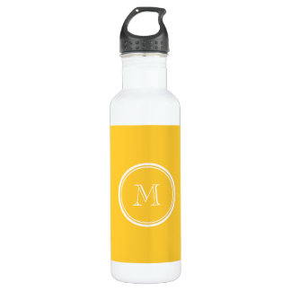 Sunglow Yellow High End Colored Stainless Steel Water Bottle