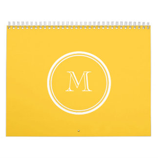Sunglow Yellow High End Colored Wall Calendar