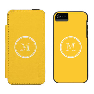 Sunglow Yellow High End Colored Wallet Case For iPhone SE/5/5s
