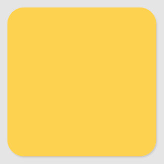 Sunglow Yellow Square Sticker