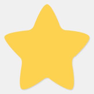 Sunglow Yellow Star Sticker