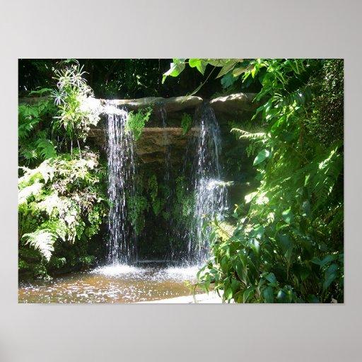 Sunken Garden Falls Poster
