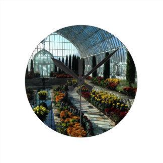 Sunken Garden Room, Como Conservatory, Minnesota Round Clock