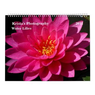 Sunken Gardens Water lilies 2015 #5 Calendar