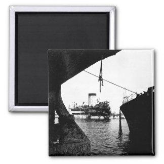 Sunken Japanese ships in Manila_War Image 2 Inch Square Magnet
