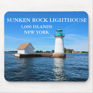 Sunken Rock Lighthouse, New York Mouse Pad