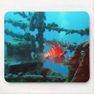 Sunken Ship and Fish Mouse Pad