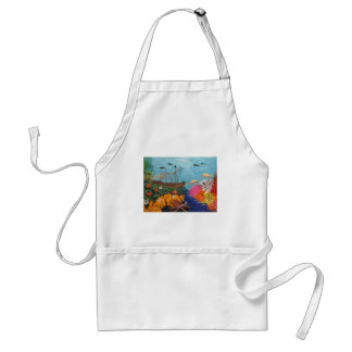 Sunken Treasure Ship Adult Apron