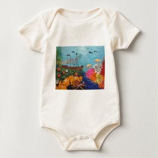 Sunken Treasure Ship Baby Bodysuit
