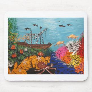 Sunken Treasure Ship Mouse Pad