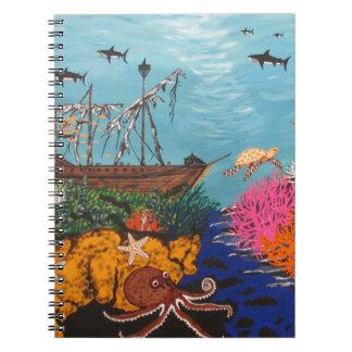 Sunken Treasure Ship Notebook